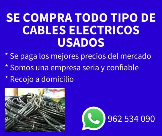 Se compra cables electricos usados