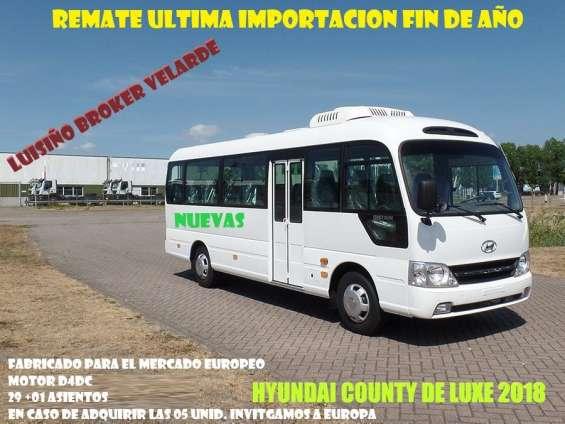Hyundai county 2018 nuevas