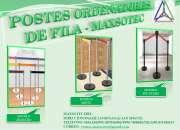 PARANTES PARA ORDENAR COLAS -CROMADO,MIXTO,POP PVC - SOLICITELOS