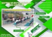 SISTEMA DE COLAS CON SOFTWARE PARA TV Y DISPENSADOR MECÁNICO - MAXSOTEC-SOLICITELO
