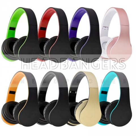 Headphones inalámbricos 4 en 1: bluetooth, cable de audio, tarjeta micro sd, radio fm