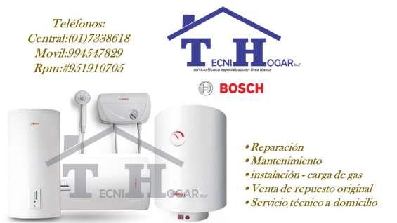 Termas bosch reparaciones a domicilio en lima