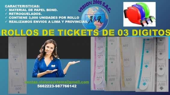 Contometros de tickets de atencio