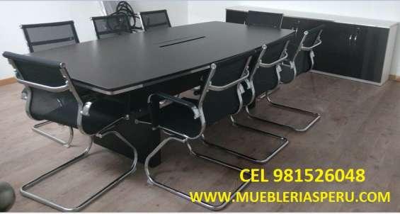 Mesa de directorio de 240 x 120 x 75cm de alto mesa de reunion para 8 personas