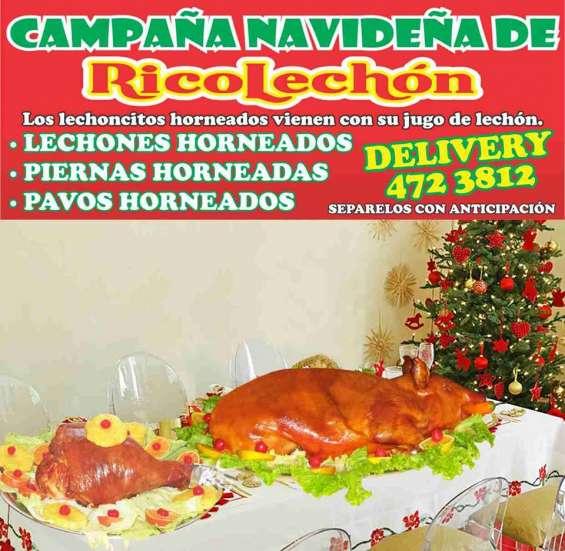 Venta y servicio de horneado de pavos navideños
