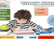 Terapia para niños en atención y concentración