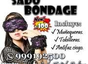 Esposas, Tobilleras Y Antifaz Kit Sado Bondage / Sexshop Miraflores