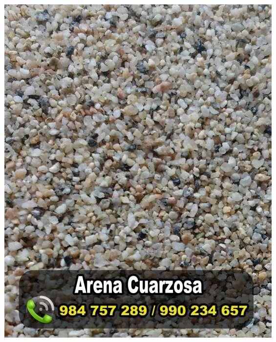 Piedras y arenas cuarzosas para agua potable