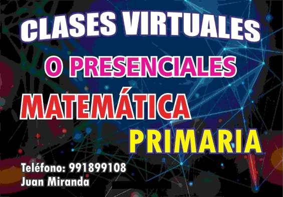 Clases matemática primaria
